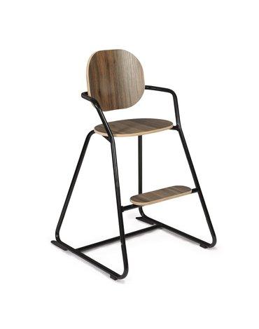 Charlie Crane Krzesełko do karmienia Tibu orzech włoski Black Edition