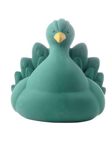 Natruba, Naturalny gryzak, zabawka do kąpieli, Paw, zielony