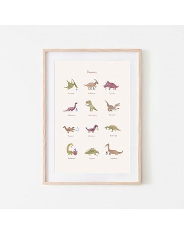 Mushie - Plakat Dinosaurs Medium