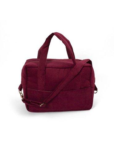 Filibabba Torba Nursing bag Sztruks Deeply Red