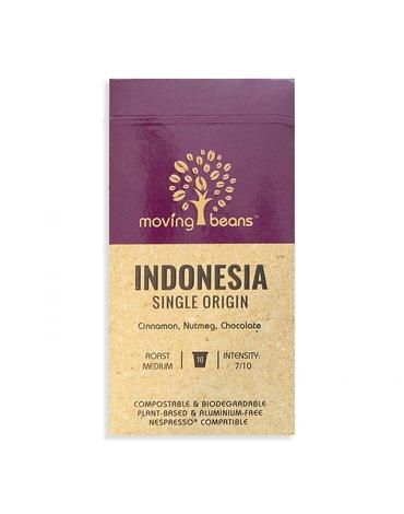 Moving Beans, Kawa w kapsułkach kompostowalnych Indonesia Single Origin, 10 szt.