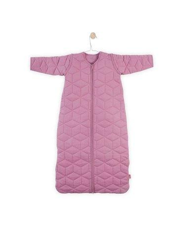 Jollein - Baby & Kids - Jollein - Śpiworek niemowlęcy całoroczny 4 pory roku z odpinanymi rękawami Graphic Quilt MAUVE 110 cm