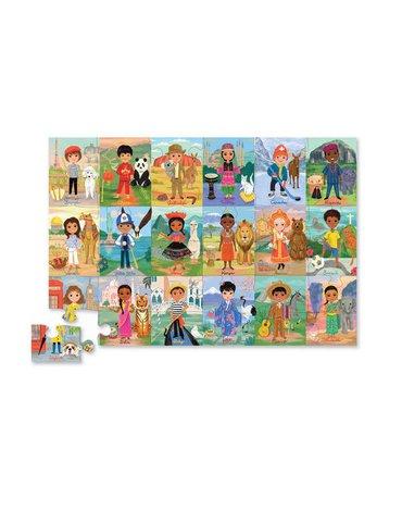 Crocodile Creek® - Puzzle 36 el. motyw Dzieci Świata
