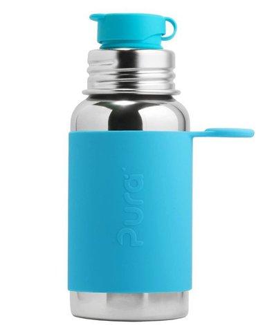 Butelka stalowa Big Mouth® Sport 550 ml, niebieska, Pura