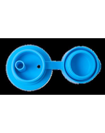 Silikonowa słomka sportowa Big Mouth®, niebieska, Pura