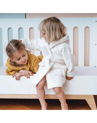 Szlafrok dziecięcy 5-6 lat, Jelonek, écru, Kikadu