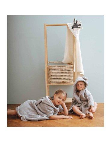Ręcznik z kapturem, Jelonek, écru, Kikadu