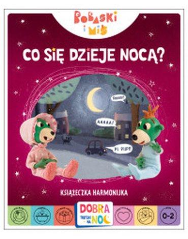 Trefl Books - Co się dzieje nocą? Książeczka harmonijka. Bobaski i Miś. Dobranoc, Trefliki na noc