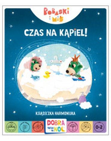 Trefl Books - Czas na kąpiel! Książeczka harmonijka. Bobaski i Miś. Dobranoc, Trefliki na noc