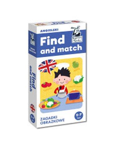 Kapitan Nauka. Angielski. Find and match. Zagadki obrazkowe