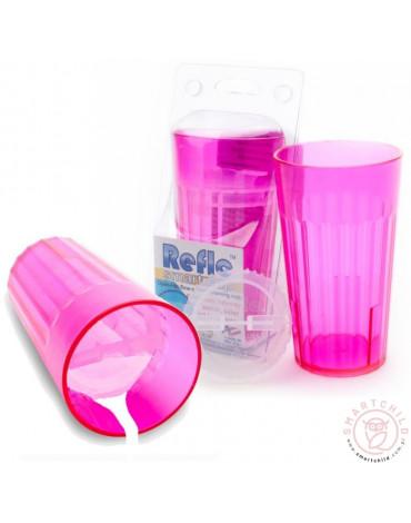Reflo - Kubek treningowy logopedyczny różowy