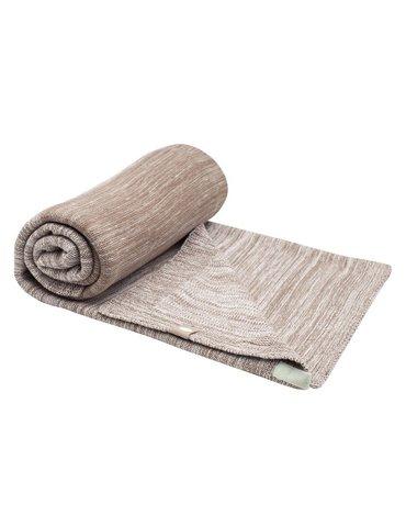 Kocyk tkany bawełniany BRĄZOWY 75x100 cm SnoozeBaby