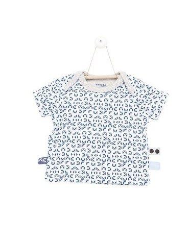 Koszulka z krótkim rękawem GRANATOWA MOZAIKA rozmiar 62 SnoozeBaby