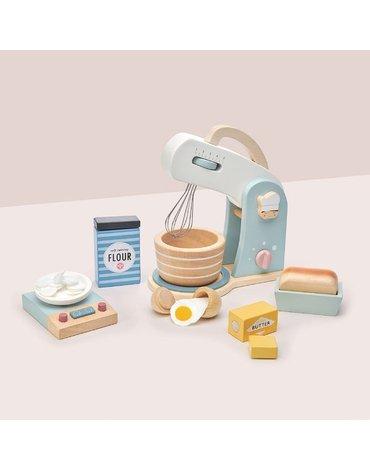 Drewniany mikser z zestawem do pieczenia, Mini Chef, Tender Leaf Toys