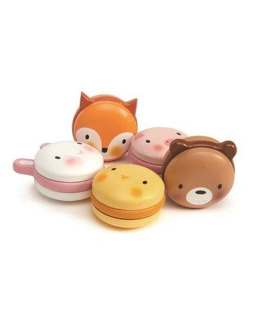Drewniane ciasteczka - zwierzątka makaroniki, Tender Leaf Toys