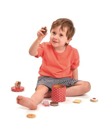 Drewniane ciasteczka w pudełku, Tender Leaf Toys