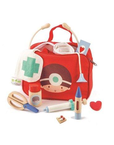 Drewniany zestaw małego lekarza, Tender Leaf Toys