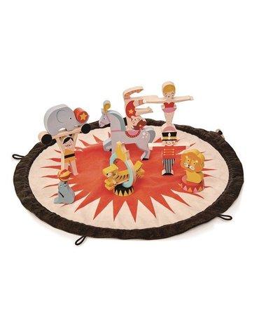Mata z drewnianymi zabawkami - Akrobaci, Tender Leaf Toys