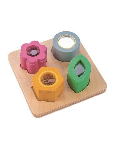 Drewniana zabawka sensoryczna - Kwiaty - zabawka optyczna, Tender Leaf Toys