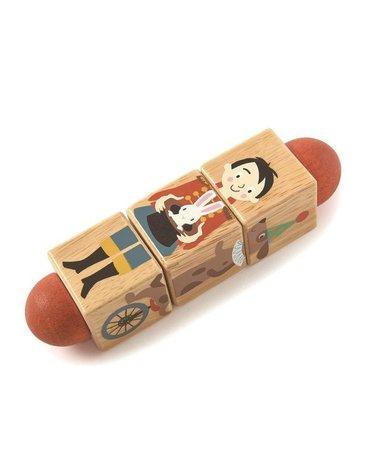 Drewniana układanka, twist - Akrobaci, Tender Leaf Toys