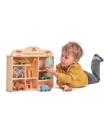 Drewniane figurki do zabawy - zwierzęta Safari, Tender Leaf Toys