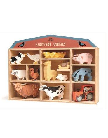 Drewniane figurki do zabawy - zwierzęta na farmie, Tender Leaf Toys