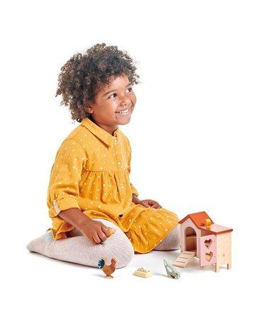 Drewniane figurki do zabawy - kurnik z kurami,Tender Leaf Toys
