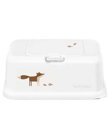 Funkybox - Pojemnik na Chusteczki, White Funky Fox