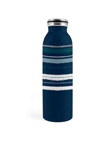 H&H Lifestyle - Butelka Termiczna ze Stali Nierdzewnej, Blue Stripes, 0,6l
