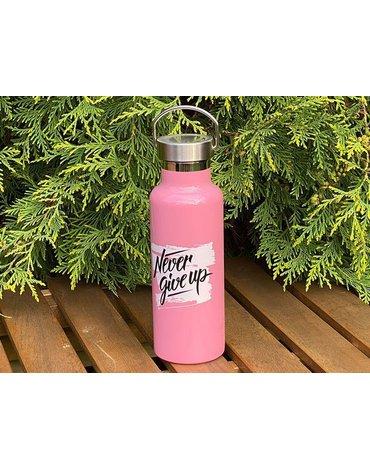 H&H Lifestyle - Butelka Termiczna ze Stali Nierdzewnej, Pink, 0,5l