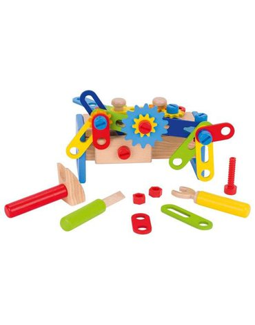 Goki® - Drewniana skrzynka narzędziowa, mała, Goki