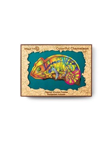 Wood Trick - Puzzle drewniane kameleon