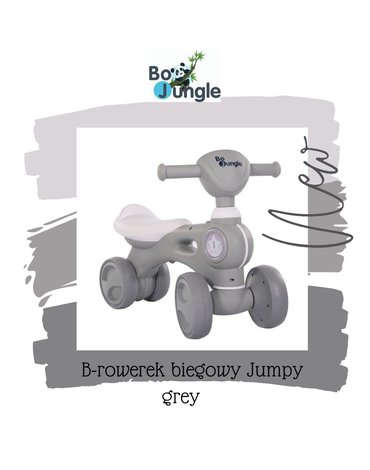 BoJungle - B-Rowerek biegowy jeździk BIKE JUMPY grey