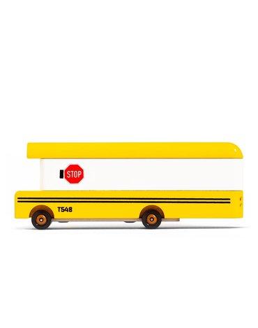 Candylab Samochód Drewniany School Bus