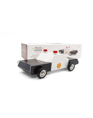Candylab Samochód Drewniany Police Cruiser