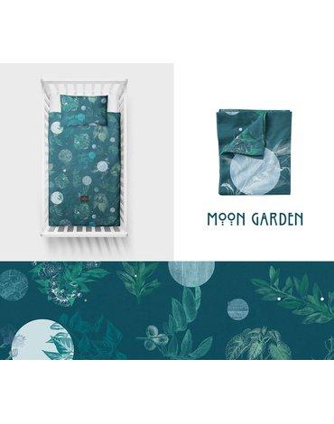 LullaLove, Bawełniana pościel Moon garden 100x135 cm