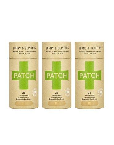 Patch, Naturalne plastry opatrunkowe, na poparzenia, z aloesem, KARTON, 3x25 szt.
