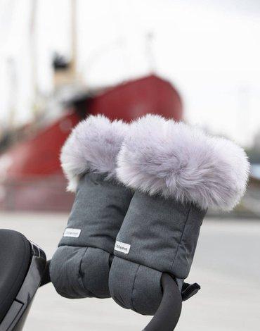 7AM - Mufki do wózka Tundra - Heather Grey Dark