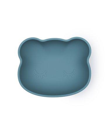 Silikonowa miseczka z przyssawką i pokrywką Miś We Might Be Tiny - Blue Dusk
