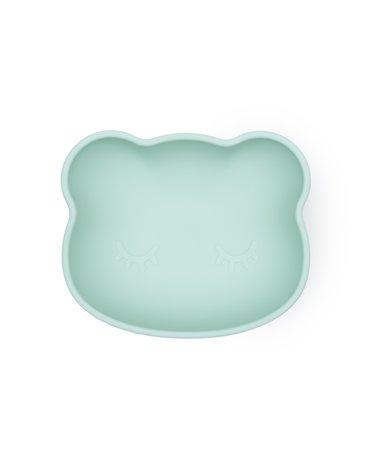 Silikonowa miseczka z przyssawką i pokrywką Miś We Might Be Tiny - Minty Green