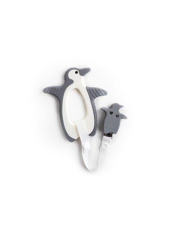 Gryzak sensoryczny Bickiepegs - Peggie the Penguin