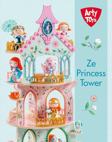 Djeco - Zamek księżniczek  (drewno) DJ06787