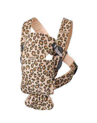 BABYBJORN MINI 3D Jersey – nosidełko, Beż/Leopard