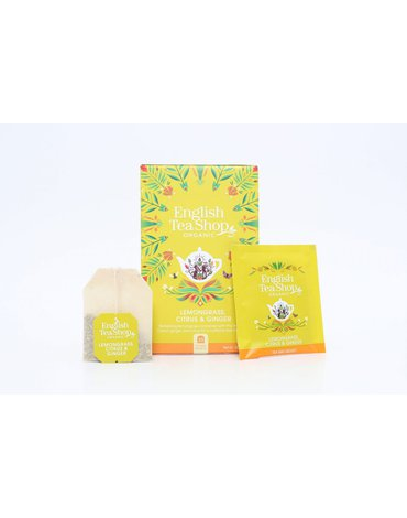 English Tea Shop, Herbata Lemongrass, Ginger & Citrus, 20 saszetek