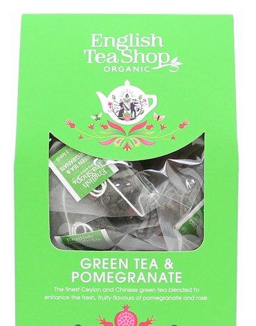 English Tea Shop, Herbata Green Tea & Pomegranate, 15 piramidek