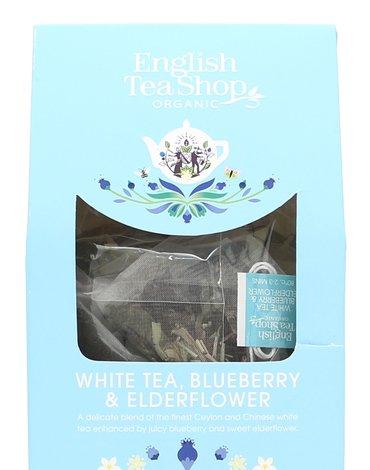 English Tea Shop, Herbata White Tea, Blueberry & Elder, 15 piramidek