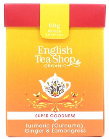 English Tea Shop, Herbata sypana, Turmeric, Ginger & Lemongrass, 80 g
