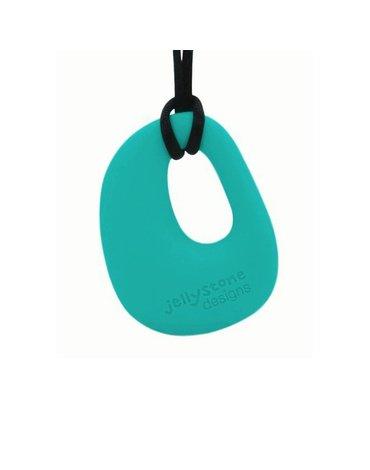 Wisiorek silikonowy gryzak, turkusowy, Jellystone Designs