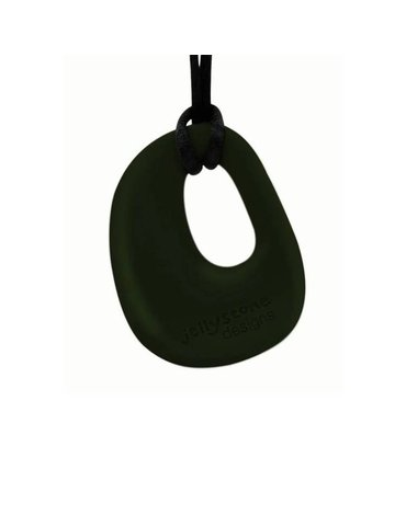 Wisiorek silikonowy gryzak, czarny, Jellystone Designs