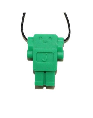 Wisiorek gryzak silikonowy Robot, zielony, Jellystone Designs